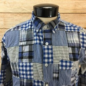 J Crew Quilted Button Front Shirt M Slim Fit